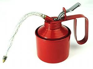 Oil Can, 1/4 Pint with Flexible Spout & Fixed Spout Thumb Pump. X1153